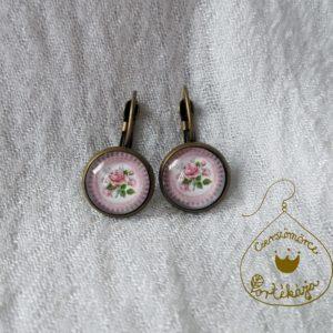 Cserszömörce Portékája - Rózsafüggő fülbevaló