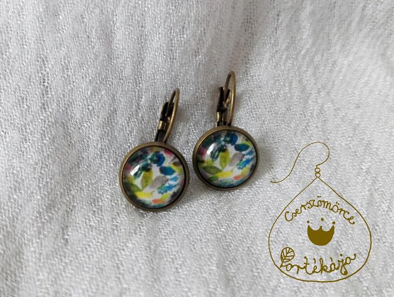 Cserszömörce Portékája - Vízfestékek tánca fülbevaló
