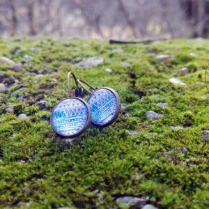 Cserszömörce Portékája - Lilkék mintasoros füli