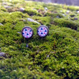 Cserszömörce Portékája - Rózsaháromszögek fülbevaló